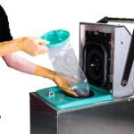 Dispozitiv pentru golirea pungilor de aspiratie NEMO
